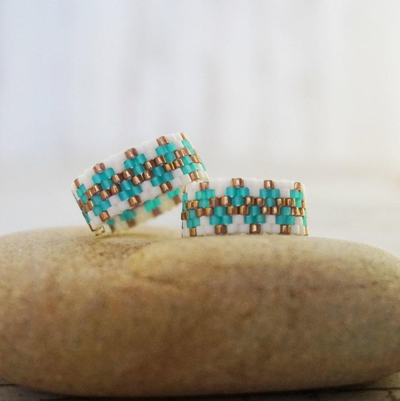 Perlen Ringe Für Frauen Boho Ring Boho Ring Dünnen Ring Etsy