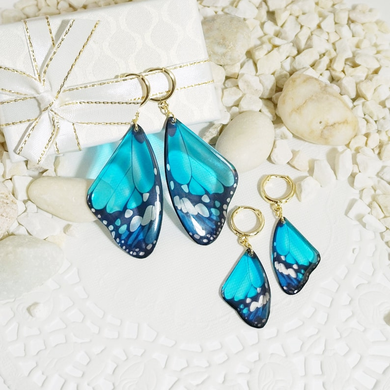 18K Gold Filled Butterfly 12 COLORS Gold Butterfly Earrings image 1