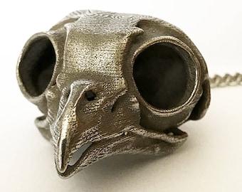 Owl Skull - 3D Printed Skull - Stainless Steel 3D Printed Screech Owl Skull - Bird Skull