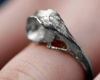 Hummingbird Skull Ring - Hummingbird Jewelry - Bird Skull Ring - Bird Earring - Hummingbird Skull Earring