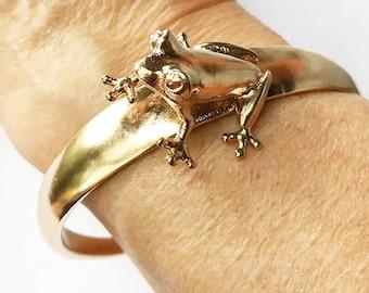 Frog Bracelet - Frog Jewelry - Biology Necklace 3D Printed Bronze Sterling Silver
