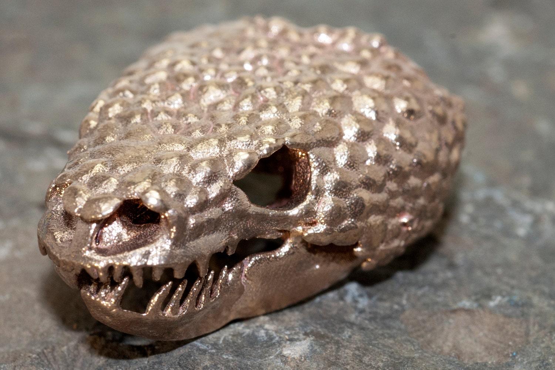 Gila Monster Reptile Skull Anhänger 3D gedruckte Edelstahl | Etsy