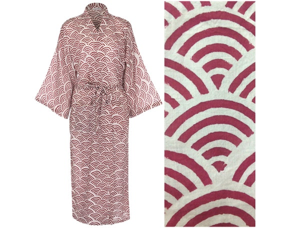 Kimono Robe Dressing Gown Cotton Bathrobe for Women.  45689fefe