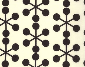 1/2 Yard, Comma, Zen Chic, Black on Ivory,  Asterisks in Ink, Moda, Brigitte Heitland, quilting cotton, fabric destash, fabric sale