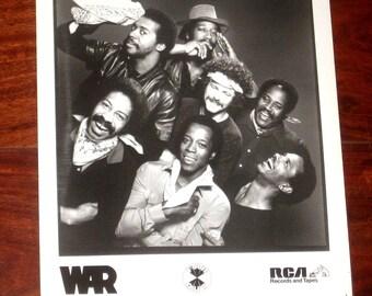 WAR (soul/funk group) Original RCA Glossy Promotional Press Photo