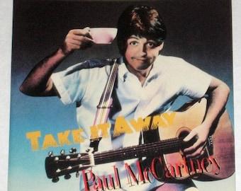 "Paul McCartney Take It Away 7"" White Label Promotional 45 + Promo P/S Beatles"