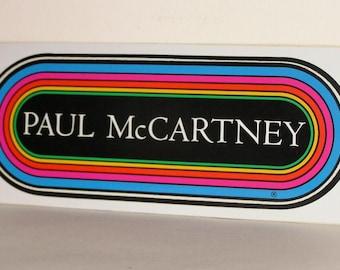 Paul McCartney KLOS Rainbow Bumper Sticker NM Never Peeled from L.A. Forum 1989