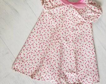 Vintage Floral Bow Back Dress, Toddler Vintage Floral Dress