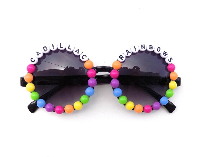 "Phish ~ Halley's Comet ""Cadillac Rainbows"" decorated sunglasses by Baba Cool 