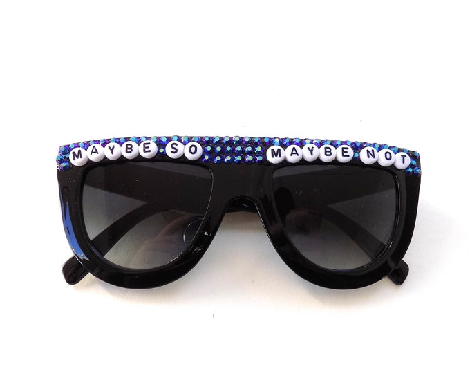 """Phish Stash """"Maybe So, Maybe Not"""" decorated groovy glasses by Baba Cool 