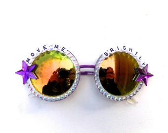 """Grateful Dead Terrapin Station """"Move Me Brightly"""" decorated sunglasses by Baba Cool 