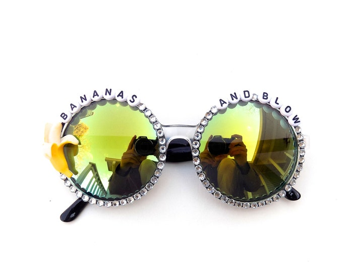 "Ween ""Bananas and Blow"" decorated sunglasses by Baba Cool 