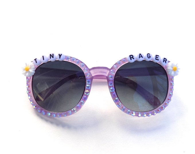 """Children's """"Tiny Rager"""" decorated sunglasses by Baba Cool 
