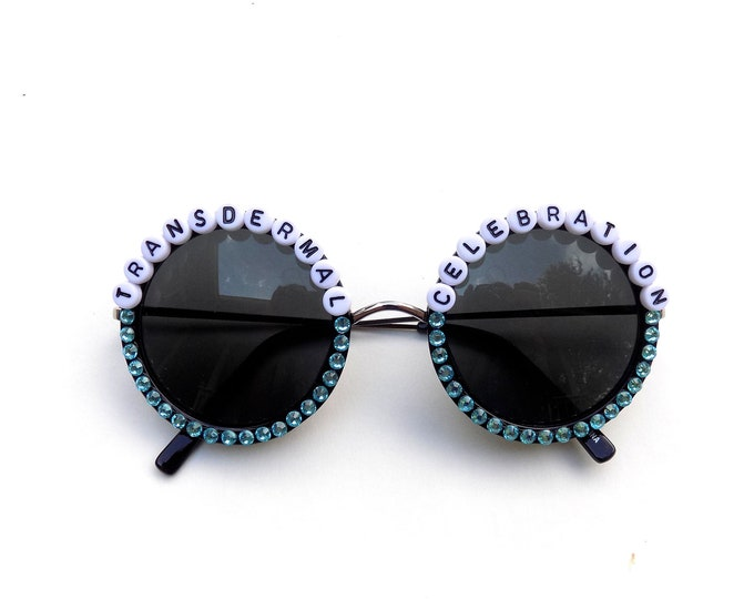 "Ween ""Transdermal Celebration"" decorated sunglasses by Baba Cool 