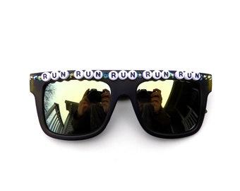 "Phish ~ Run Like An Antelope ""Run Run Run Run Run"" decorated sunglasses by Baba Cool   funky embellished festival shades   Phishy shades"