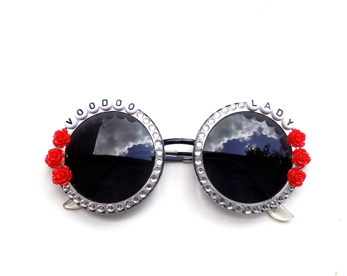 "Ween ""Voodoo Lady"" decorated sunglasses by Baba Cool 