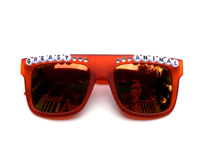 "Umphrey's Mcgee Ringo ""Greasy Animal"" decorated sunglasses by Baba Cool 