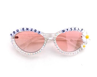 """Phish """"You Enjoy Myself"""" decorated glasses by Baba Cool 