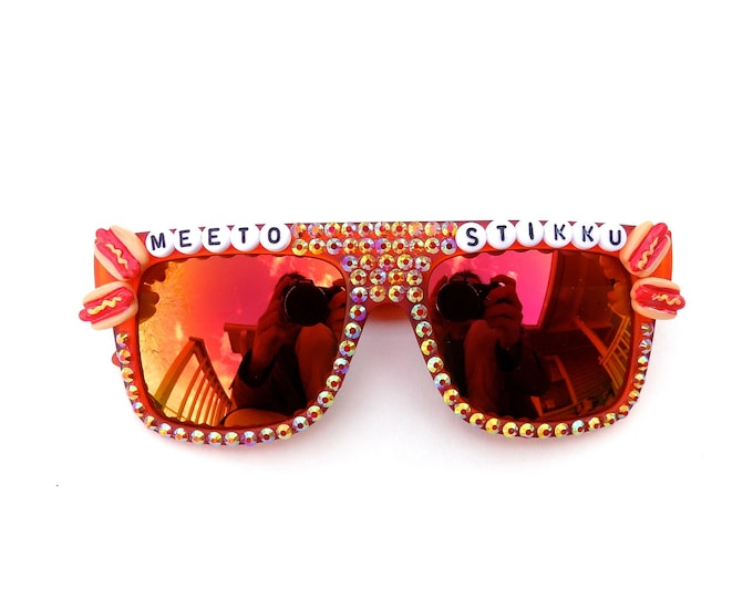 "Phish Meatstick (Japanese) ""Meeto Stikku"" decorated sunglasses by Baba Cool 