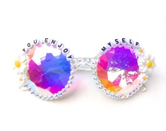 "Phish ~ ""You Enjoy Myself"" decorated kaleidoscope glasses by Baba Cool 