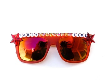 """Phish """"Party Time"""" decorated sunglasses by Baba Cool 
