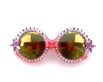 """Phish Reba """"Phinest in the Nation"""" decorated sunglasses by Baba Cool 
