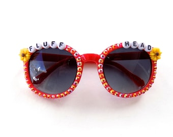 """Children's Phish """"Fluffhead"""" decorated sunglasses by Baba Cool   embellished Phish sunglasses for little ragers"""