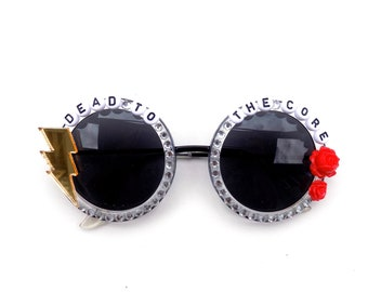 """Grateful Dead """"Dead to the Core"""" Shakedown Street decorated sunglasses by Baba Cool 