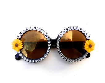 """Phish Mike's Song """"Sharing in the Groove"""" decorated sunglasses by Baba Cool 