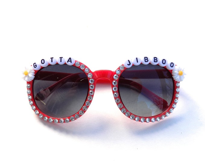 """Children's """"Gotta Jibboo"""" decorated sunglasses by Baba Cool 