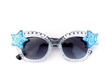 """Phish ~ Llama """"Taboot Taboot"""" decorated sunglasses by Baba Cool 