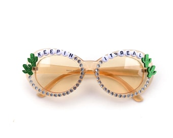 "Phish Mike Gordon ""Keepin It Real"" decorated sunglasses by Baba Cool 
