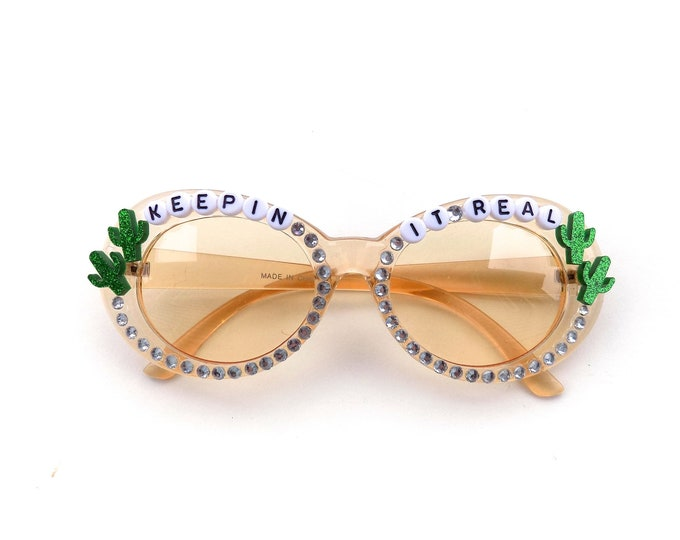 """Phish Mike Gordon """"Keepin It Real"""" decorated sunglasses by Baba Cool 