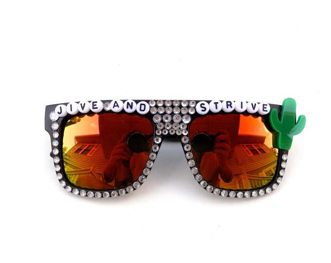 """Phish ~ Meat """"Jive and Strive"""" decorated sunglasses by Baba Cool 