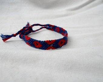"XL Size Phish Fishman ""Phriendship"" Bracelet or Anklet | Macrame Fishman bracelet XL size | Phish Fishman-inspired bracelet wristband"