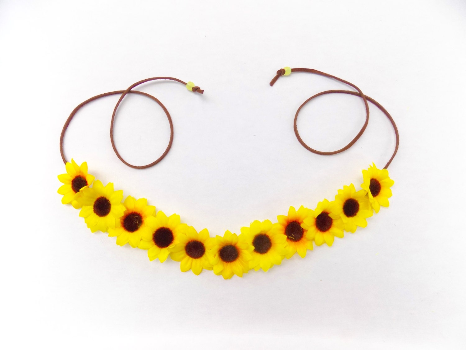 The China Cat Sunflower Crown Flower Crown Headband With Yellow