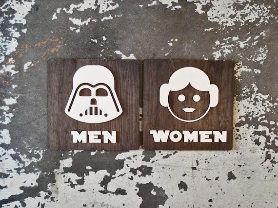 Star Wars Theme Toilette Zeichen Lustige Badezimmer Dekor Etsy