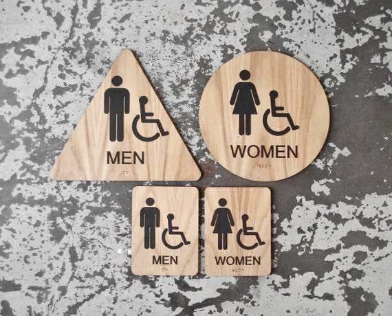 California Title Restroom Signs ADA Compliant Bathroom - Ada compliant bathroom signs