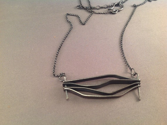 Fire Necklace in Oxidized Sterling