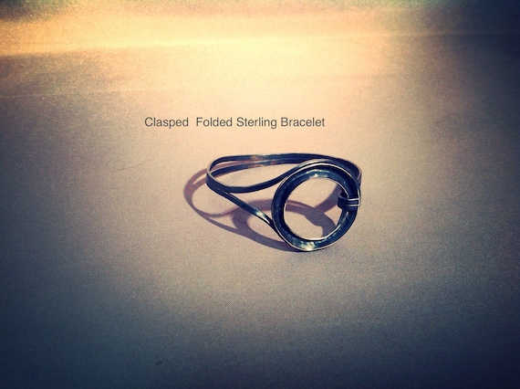 Folded infinity bracelet
