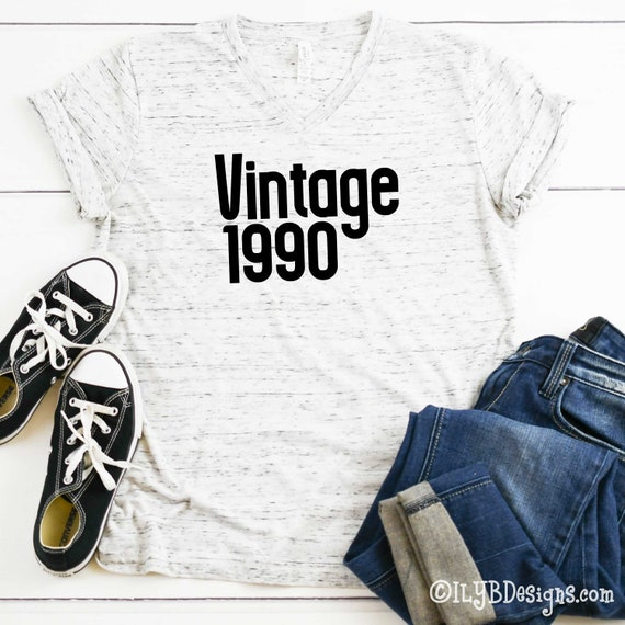 Vintage 1990 Shirt Thirty AF 30th Birthday Gift For Her Custom Text T Shirt November 30th Birthday Shirt Legendary Shirt