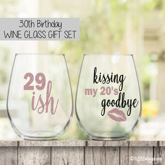 30th Birthday Gift For Women Birthday Wine Glass 30th