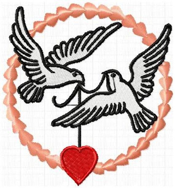 Tauben Hochzeit Stickdatei Instant Download Etsy