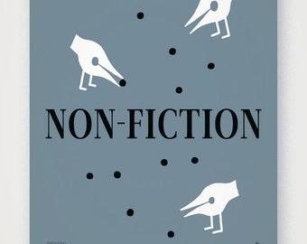 Non-Fiction (v.1). Fine quality print of original artwork. Hand signed.