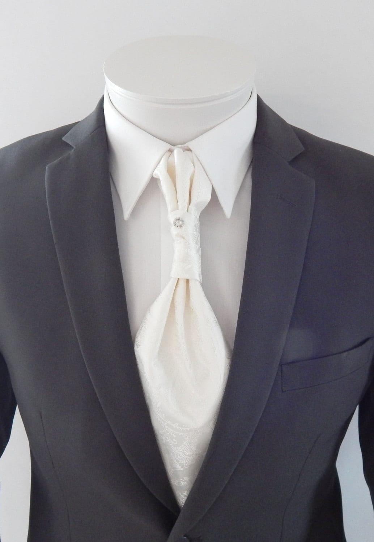 Cravatta Raso Cravattino Uomo Tuxedo Ascot Foulard Matrimonio Feste
