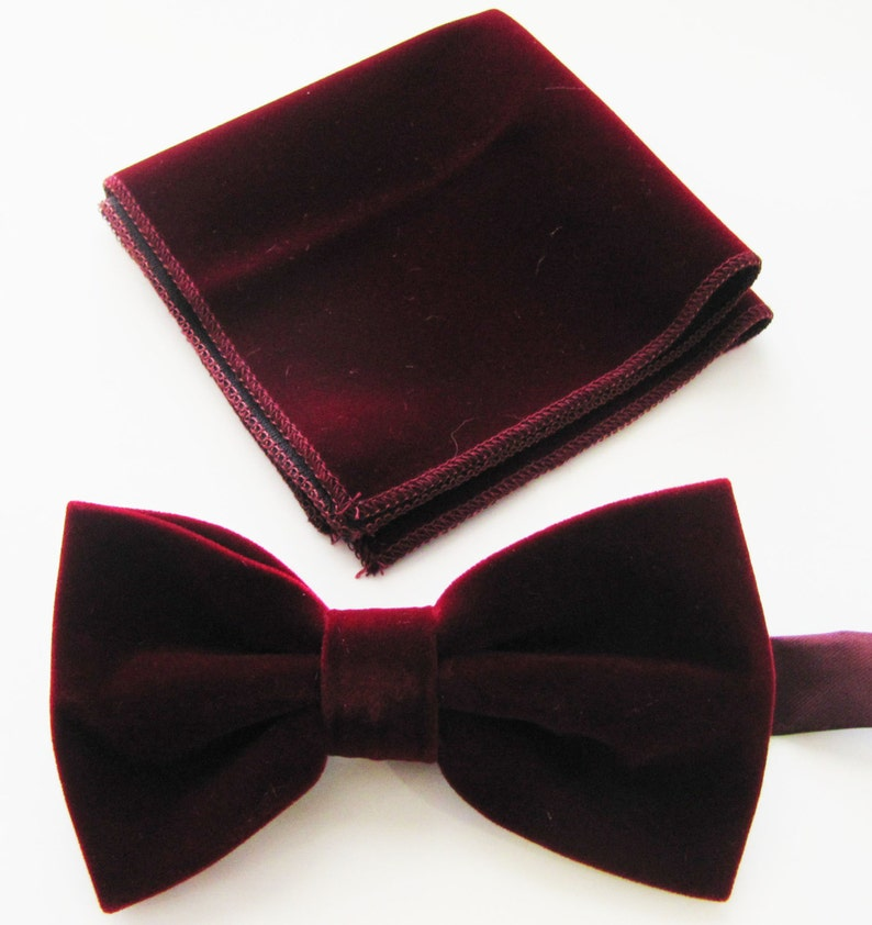 2f63291259ec Mens Fancy Burgundy Wine Velvet Adjustable PreTied Mans Bow