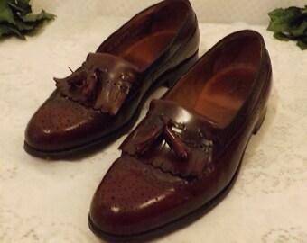 Hanover Shoes Oxblood Fringe Tassel Loafers Mens Shoes Size  10.5