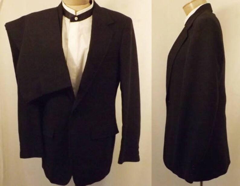 Vintage ' SEtsy Formel Pour Noire Homme De 70 Costume Laine eIW9YEHbD2