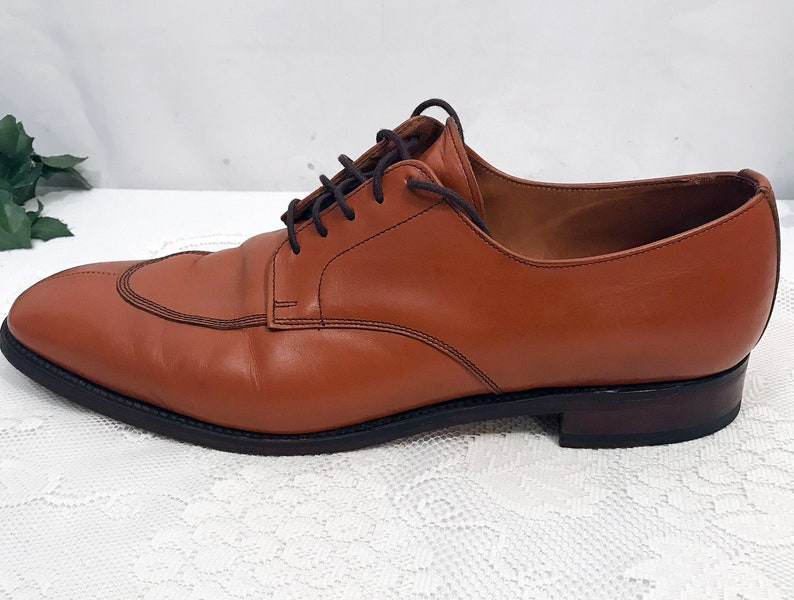 Vintage E T Wright Chestnut Derby Oxfords Size 15
