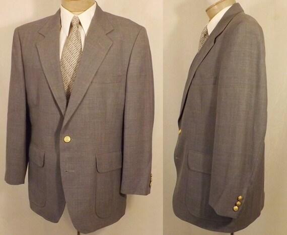 Vintage des hommes 80 ' s Classic Wool gris Blazer taille 40 par Woolrich